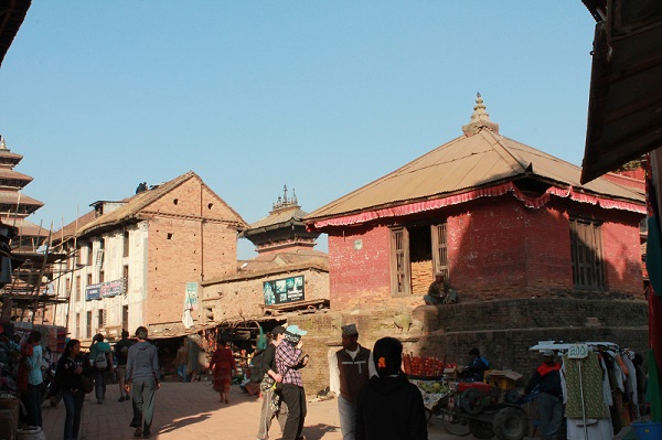 The streets of Bhaktapur