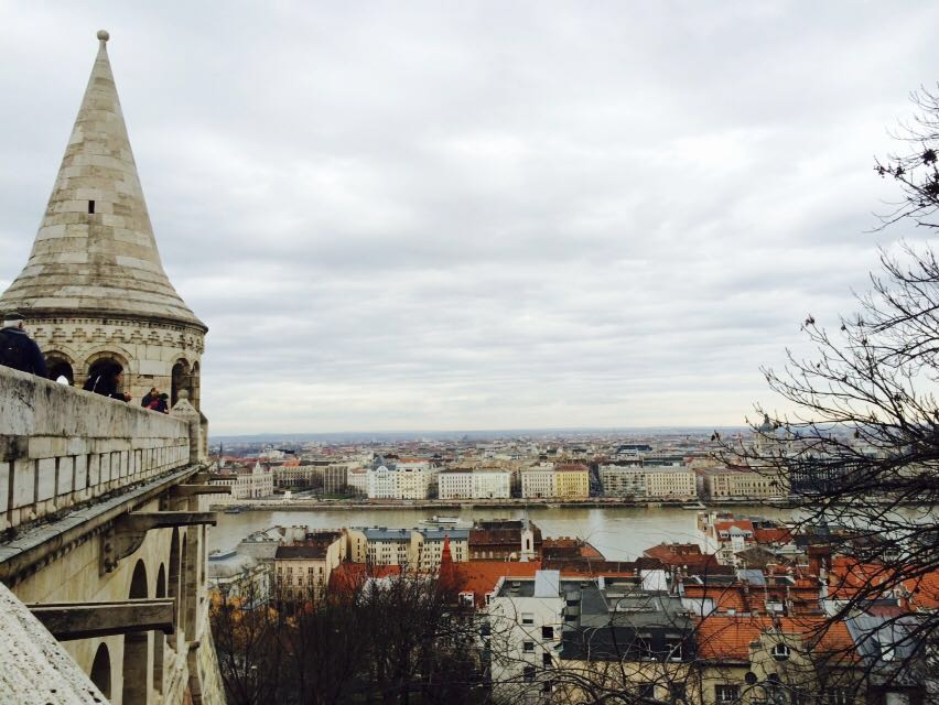 The view from the Fisherman's Bastion, overlooking the city.
